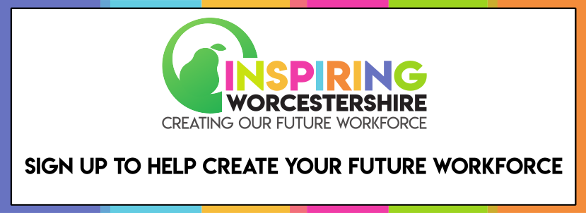 Inspiring Worcestershire sign up banner