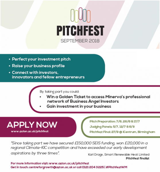 Pitchfest 2018 flyer